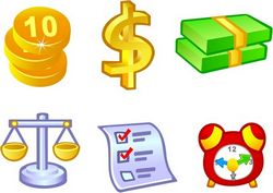 Free Vector Money Icons Free CDR