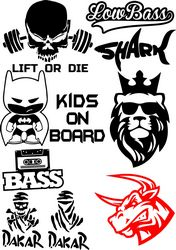 Vinyl Stickers on Car Vector Pack Free CDR