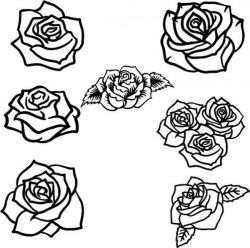 Collection Of Beautiful Rose Flower Patterns Free CDR