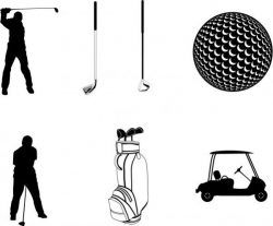 Collection Of Golf Playing Icons Free CDR