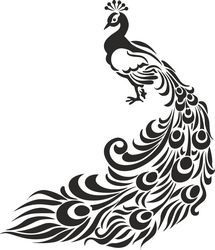 Peacock Tribal Stencil Free CDR