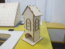 Simple Tea House Plywood Laser Cutter Project Free CDR