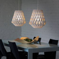 Laser Cut Wooden Pendant Lamp Shade Template Free CDR