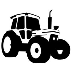 Silhouette Traced Tractor Vehicle Clip Art Free CDR