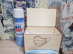 Face Mask Dispenser With Lid Face Mask Storage Box Free CDR