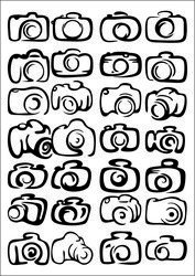 Camera Vector A Large Collection Of Camera Icons Free CDR