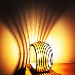 Vector Layout Of A Table Lamp sphere Free CDR