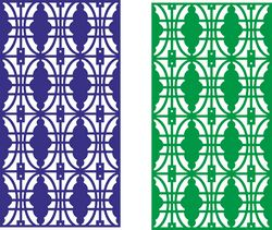 Seamless lace border design partition Free CDR