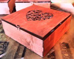 Heart Engraving Box Download For Laser Cut Free DXF File