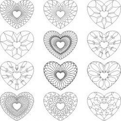 Carved Heart Pattern For Print Or Laser Engraving Machines Free DXF File