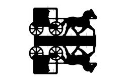 Horse Cart Free DXF File