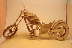 Laser Cut Wooden Motor Bike Free DXF File