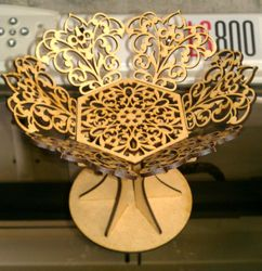 Coupe 3mm Storage Basket Free DXF File