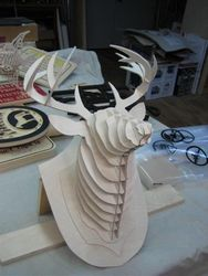 Deer Head 3d Puzzle Free DXF File