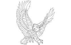 Eagle Attack Free DXF File