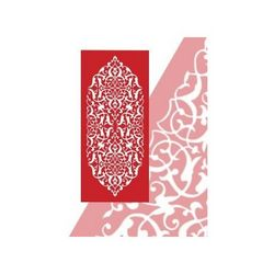 Floral Screen 123 Free DXF File