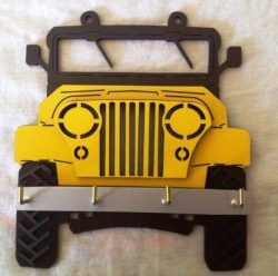 Car Jeep Shaped Hanger For Laser Cut Cnc Free DXF File