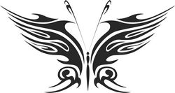 Tattoo Tribal Butterfly Vector Metal Art Free DXF File