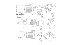 Chairs 3d Puzzle Free DXF File