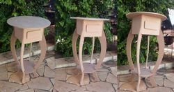 Round End Table Lamp Table With Drawer Free DXF File