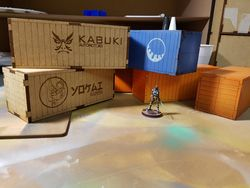 Laser Cut Wooden Shipping Container 3mm Mdf 50x50x130 Free DXF File
